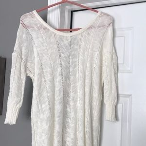 Knitted & Knotted Anthropologie Cream sweater